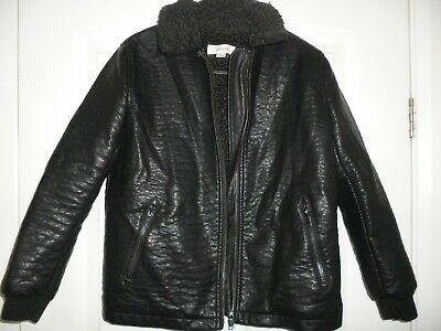 Boys River Island Faux Leather Jacket Age 9 Years