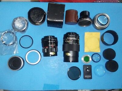 Lot of Vintage Camera Lenses Filters & Accessories