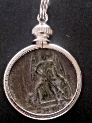Constantine Great Authentic Victory Ancient Roman Coin Constantinople Pendant.