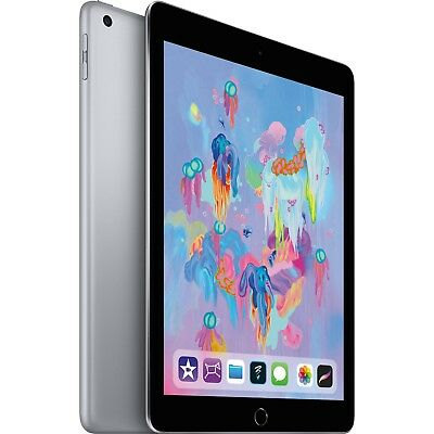 "Apple iPad 9.7"" 6th Gen 32GB Space Gray Wi-Fi MR7F2LL/A 2018 Model"
