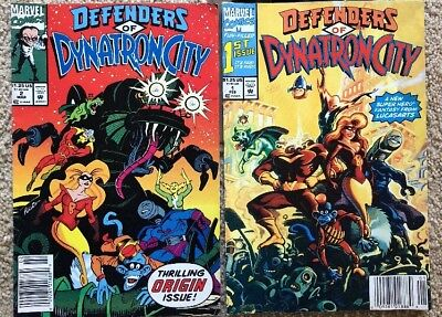 Defenders of Dynatroncity #1  & # 2 (Marvel Comics) Pre Owned. Good 1991