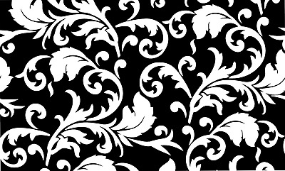 Baroque Pattern Vinyl Painting Stencil For Shoes & Small Objects