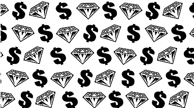 Diamonds & Dollars Vinyl Painting Stencil For Shoes & Small Objects