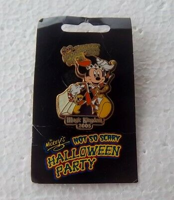 *~*disney 2005 Wdw Not So Scary Halloween Party Jester Mickey Le Pin *~*