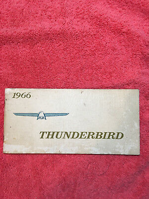 1966 Ford Thunderbird Owners Manual