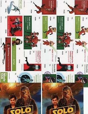 2  Dmc Holiday Christmas Sticker Gift Tag Sheet The Incredibles + Solo