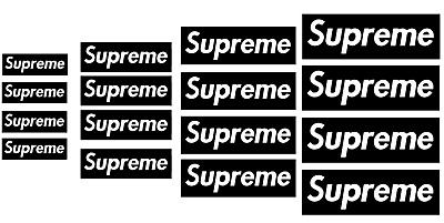 Supreme Logo Vinyl Painting Stencil For Shoes & Small Objects