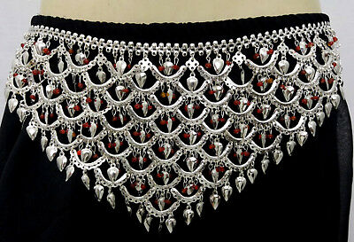Tringal Belt Belly Dance Costume Jewelry Kuchi Tribal Ethnic Gypsy ATS Boho sil
