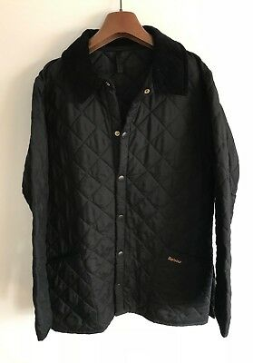 Barbour Eskdale Quilted Jacket! Mens S/m! Black! Coat! 42-44 Chest! Chelsea!