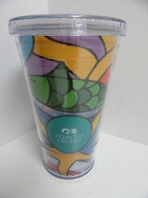 Princess Cruises Ship Plastic Tumbler Travel Mug w Lid 16 oz BPA Free
