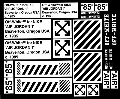 Off White J Pack Vinyl Painting Stencil For Shoes & Small Objects