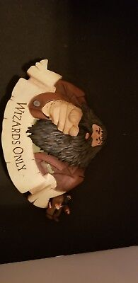 Harry Potter Wizards Only Wall Plaque Sign Hagrid Hallmark