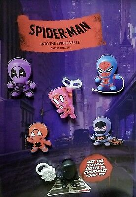 Mcdonald's 2018 Spiderman- Into The Spider-Verse Movie Toys. Shipping Now!!