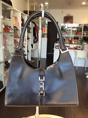1a070749b8 Gucci Classic Black Leather Jackie Tote Bag Shop N Pick Up   Our LA Store