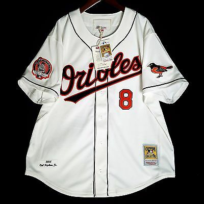 100% Authentic Cal Ripken 2001 Orioles Mitchell Ness MLB Jersey Size 44 Large L