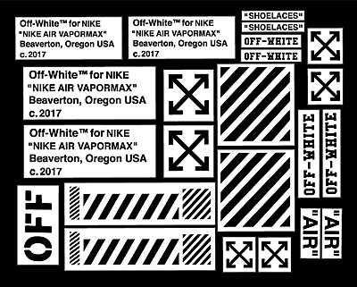Off White Vm Pack Vinyl Painting Stencil For Shoes & Small Objects