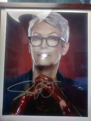 Jamie lee curtis signed scream queens. halloween.the fog.prom night coa included