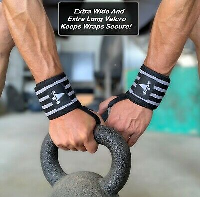 Heavy Duty Wrist Wraps Training Straps Weight Power Lifting Gym Straps Support