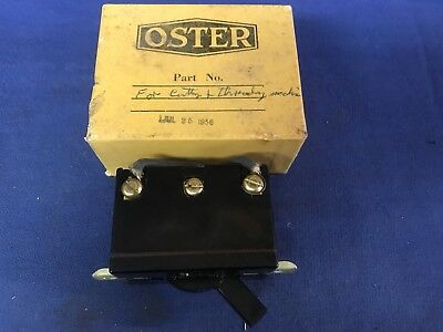 Vintage OSTER Pipe Treading Machine 20 Amp Switch New Old Stock 1956