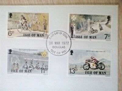 Isle of Man fdc 1977 Linked Anniversaries with insert ..FIRST DAY COVER..GB