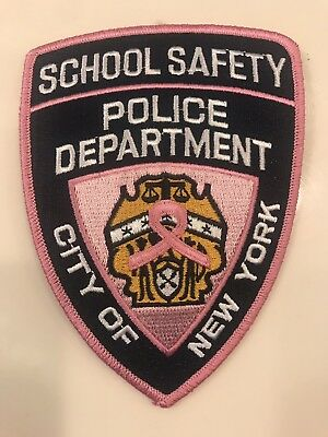 NYPD New York City Police Department Pink School Safety Patch