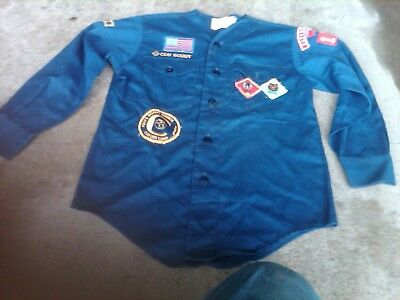 (2) Cub Scout Blue Shirts..with & Without Decals