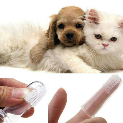 2/4/6Pcs Dog Cats Soft Finger Toothbrush Dental Cleaning Brush Hygiene Oral Care