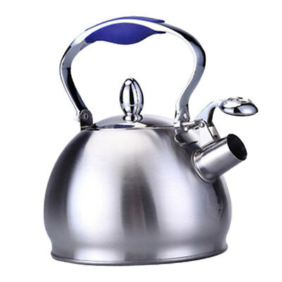 Stainless Steel Whistling Tea Kettle Coffee Tea Pot Stovetop Induction Blue