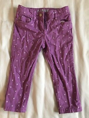Mini Boden Girl's Purple Jeans With Stars 5Y