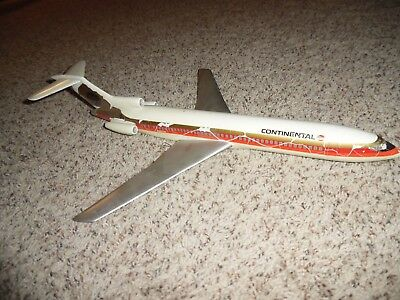 Vintage 1960's Advertising Continental Airlines Travel Agent Desk Airplane COOL