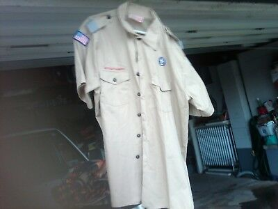 Mens Boy Scout Shirt With Patches