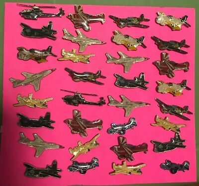 32 Vintage Military Plane Pin Lot Army Air Force Resale