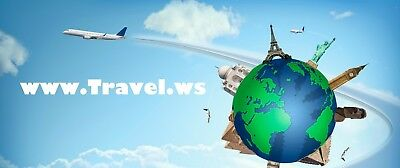 Travel.ws Domain Name URL for Specialty Entertainment or Great Business Website