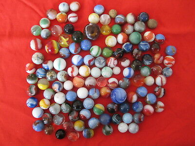 Large Estate Lot Of Vintage Antique Glass Marbles