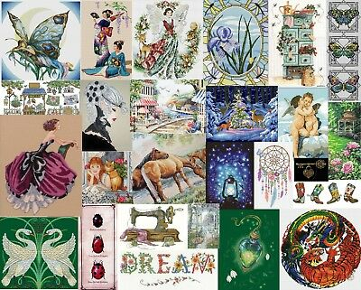 Mystery Pack of 10 Cross Stitch Patterns - Free Postage