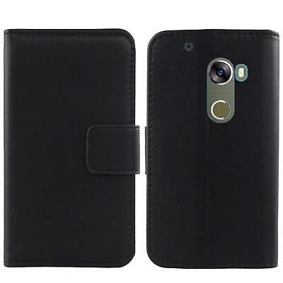 For Smartphone- Genuine Real Leather Flip Case Phone Book Wallet Cover Folio New