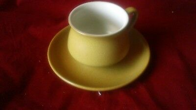 Denby Ode Mustard Color Stoneware Cup&saucer