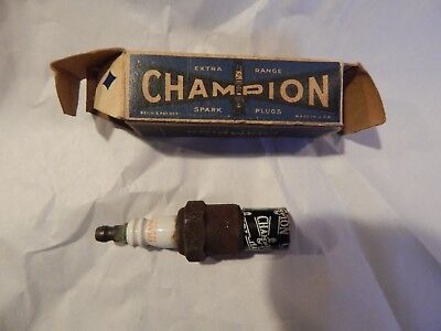 Early Champion J - 5 Spark Plug  With  H - 10  Box 1927