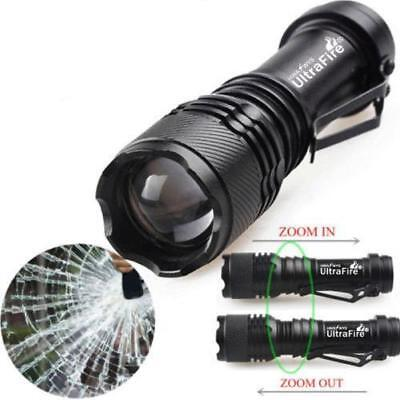 2pc Mini Tactical 50000LM Q5 LED Flashlight Zoomable Torches Light Lamp AA 14500