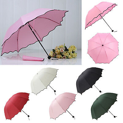 Portable Super Compact Folding Windproof Travel Umbrella Women Girl Summer Gift