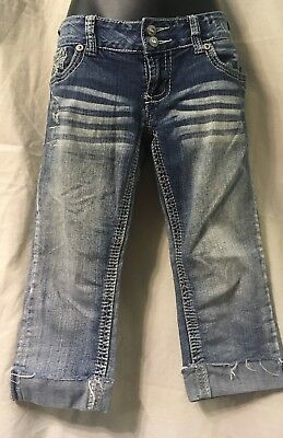 Lot of 3 - AMETHYST CAPRI CROP STRETCH JEANS ~ SIZE 5. No rips, stains or holes