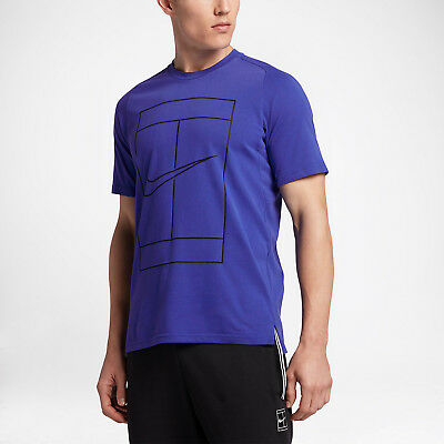 Nike Court Dry Tennis tee - adult L in blue