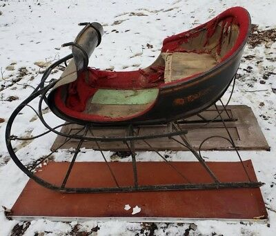 Antique Horse Drawn Sleigh Vintage Original 1800's