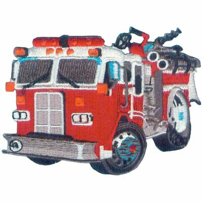 Fire Truck/Engine Embroidered Iron On Patch