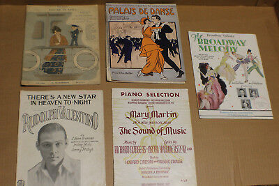 Large Lot of Early 1900s Antique Musical Sheet Music Ranges from 1917-1960