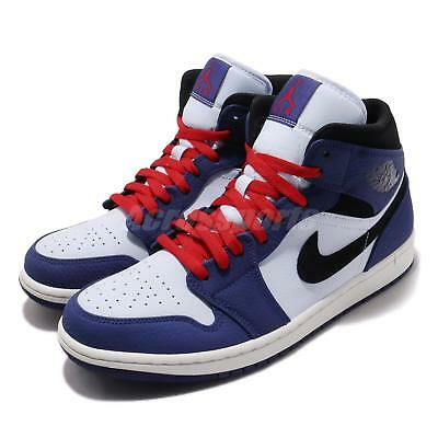 Nike Air Jordan 1 Mid SE I AJ1 Red White Blue Men Shoes Sneakers 852542- 1f9c6b363