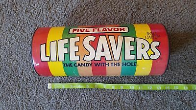 """Vintage Life Savers Advertising Candy Coin Bank 12"""""""