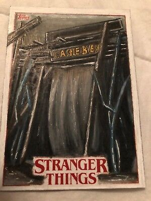 Sketch Card Will Castle Byers 2018 Topps STRANGER THINGS Laura Atkinson