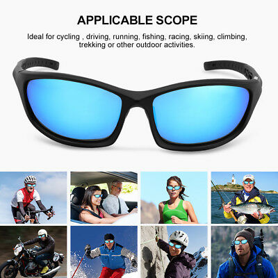 Cycling Polarized Sports Sunglasses w/ TR90 Frame For Fishing Driving Hiking US