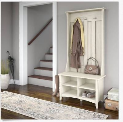 Hall Tree Storage Shoe Bench Coat Rack Entryway Foyer Mudroom Furniture New Hat
